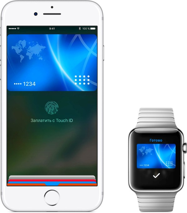 iPhone и Apple Watch с NFC чипом