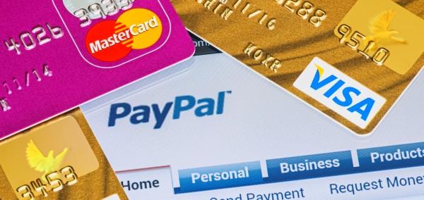 PayPal банковская карта